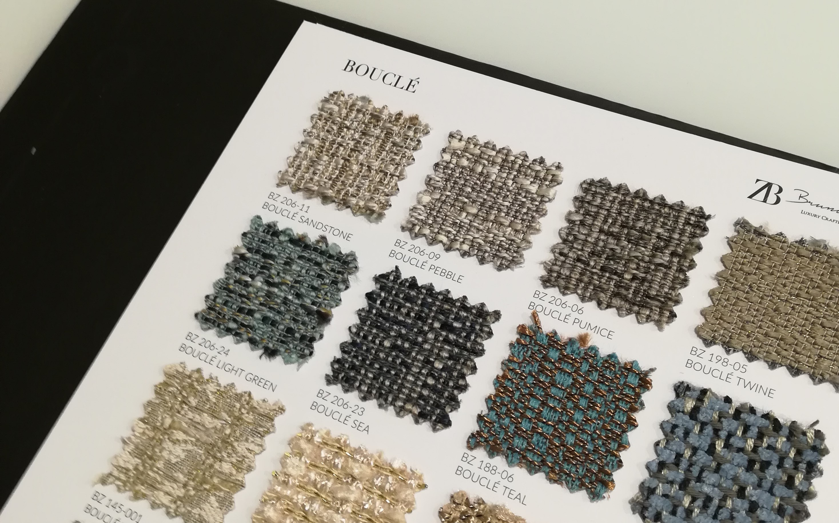 To choose the right materials, you need to see and touch them