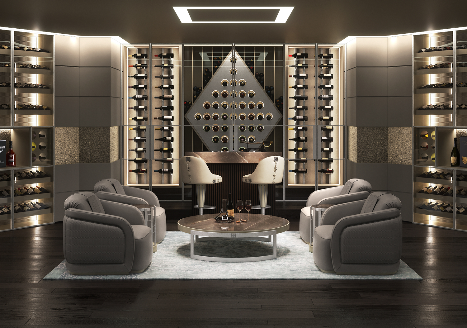 A Delightful night, enjoying a relaxing experience in ZB luxury wine-tasting room